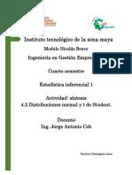Distribuciones normal y t de Student