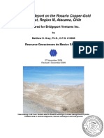 Rosario Chile Bridgeport Ventures M Gray 43-101 Report 2009 Nov 27 Revised 2009 Dec 4 Typo Corrected Dec15.337171749
