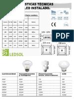 Caracteristicas de Led y Fluorecente