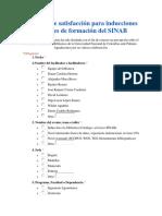 Encuesta de Satisfacción Para Inducciones y Talleres de Formación Del SINAB