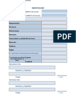 Formularios Modulo de Informacion Básica - Mib