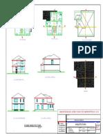 Plano Casa en Madera-Arquitectura