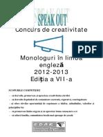 Monologuri in Limba Engleza 2011