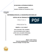 DETERMINACIÓN DE LA CONCENTRACIÓN MICELAR CRÍTICA DE UN TENSOACTIVO