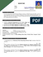 Resume B.tech.-Mechanical Engg. Rahul