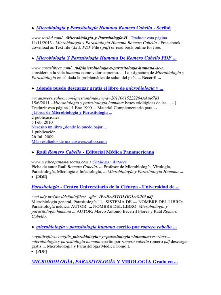 microbiologia y parasitologia humana romero cabello pdf