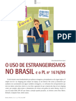 O Uso Do Extrangeirismo No Brasil