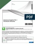 American English File 1 Workbook Resuelto