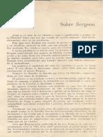 FERREIRA, Sobre Bergson 5 Pp