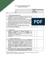 Lista de Cotejo Para Informe 2018