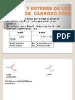 Sales y Esteres de Los Acidos Carboxilicos