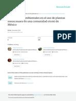 Condiciones Ambientales en Uso de Plantas Medicinales