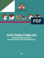 Guía Para Familias Atención Educativa a Estudiantes Con Discapacidad