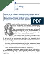 Spinoza Du Bon Usage de l Imagination (2 Pages - 365 Ko)