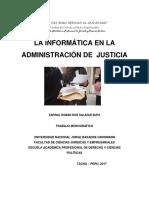 La Informatica en La Justicia