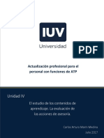 Unidad 4.- La Evaluacion de Las Acciones de Asesoria