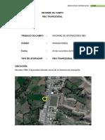 Informe de Campo Irrigaciones AFORADORES RBC localidad