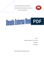 Deuda Externa Venezolana