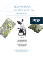 Caractetísticas Petrográficas de Los Minerales