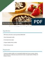 Pay Con Mousse de Chocolate