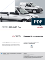 Citroën Berlingo Firts - Manual de Usuario