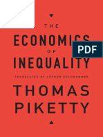 (Thomas Piketty) the Economics of Inequality (1)