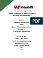 Sistema Aduanero Internacional Logistica