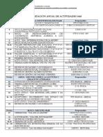 Calendarización Anual de Actividades 2018