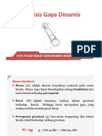 9-Analisis Gaya Dinamis-Titik Pusat Berat Dan Momen Inersia Massa