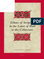 [Christopher a. Beetham] Echoes of Scripture in Colossians