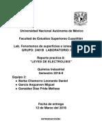 Leyes de Electrolisis