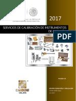 Catalogo 2017 Servicios de Metrologia OK