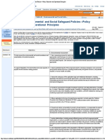 OP 4.00 - Table A1 - Environmental and Social Safeguard Policies