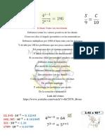 Sistema de Medidas Angulares y Ecuacion Exponencial