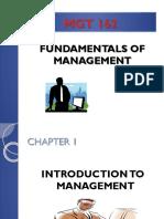Chap. 1 - Introduction to Management (1)