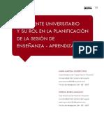 2018 Texto Caceres Rivera El Docente Universitario Rol en La Planificacion