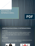 6 Arbitraje Nacional e Internacional..