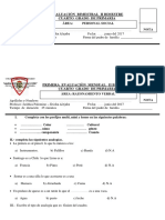 Examen Mensual de Maria Reina de Corazones
