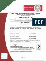 QADDCO ISO Certificate