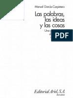 Garcia Carpintero Manuel - Las Palabras Las Ideas Y Las Cosas