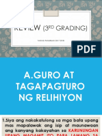 Review 3rd Grading