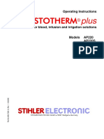 Stihler Astotherm Plus Infusion Warmer - User Manual