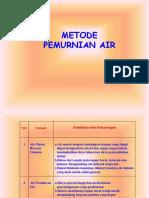 Metode Pemurnian Air