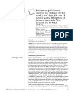 IPA - Importance Performance Analysis