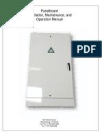 Panelboard O&M Manual