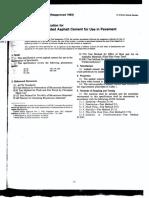 D0946-82 Spec for Penetration Graded Asphalt