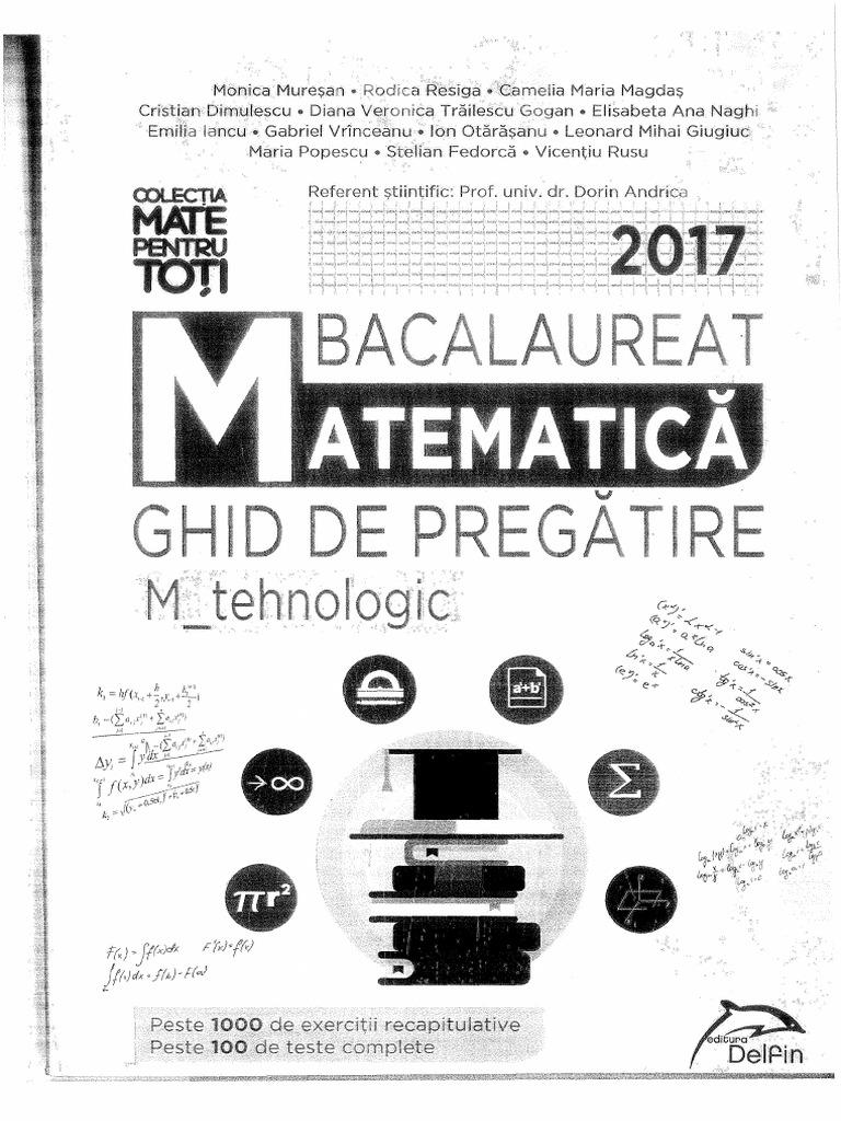 Bacalaureat Mate 2017