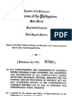 RA 9700 Extension of Comprehensive Agrarian Reform Program