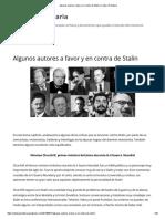 Algunos Autores a Favor y en Contra de Stalin _ Cultura Proletaria