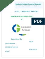 Crompton Greaves Training Report